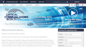 Personalised URLs for IIR-Telecoms: Critical Communications World 2015