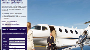 Air Partners Personalised Landing Page