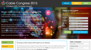 Personalised URLs for Informa: Cable Congress 2015